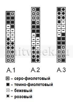 Комплект с красочным узором - Схема 1