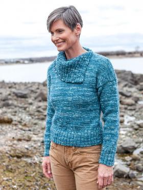 Пуловер со спущенными рукавами