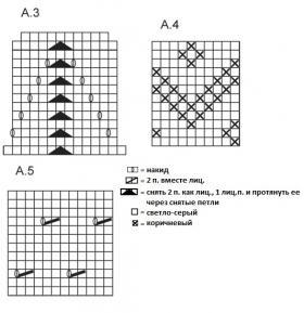 Комплект с жаккардовым узором из ромбов - Схема 2