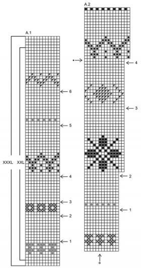 Кардиган карамельная дорожка - Схема 2