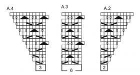 Джемпер зимняя грация - Схема 2