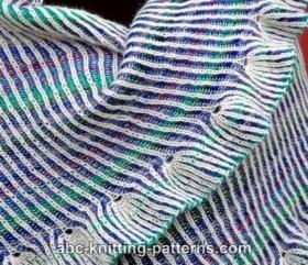Двусторонняя шаль в технике бриошь - Фото 3