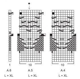 Кардиган Березовая роща - Схема 4