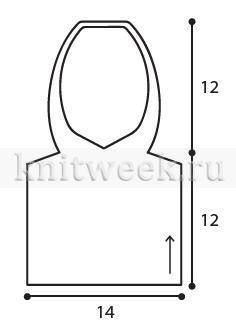 Манишка с капюшоном - Выкройка 1