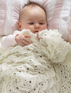 Детское одеяло крючком безе