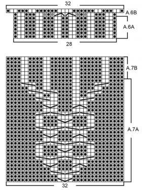 Перчатки малина - Схема 1