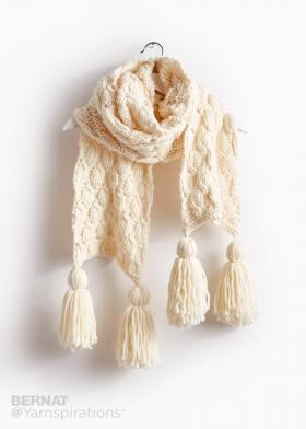 Супер шарф с объемными ромбами - Фото 3