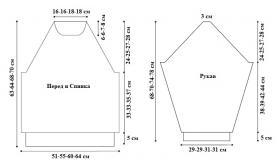 Пуловер классический реглан - Выкройка 1