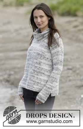 Пуловер туманная дымка