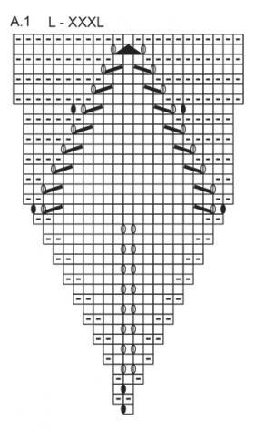 Джемпер осенняя лоза - Схема 4
