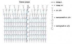 Шапка с узором из рельефных столбиков - Схема 1