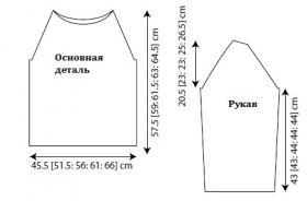Пуловер Гермия - Выкройка 1