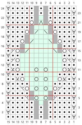 Шаль Диана в технике энтрелак - Схема 1