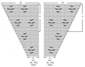 Кардиган Канари - Схема 2