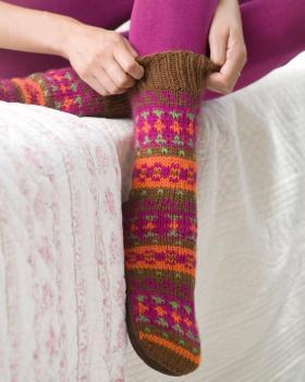 Яркие жаккардовые носочки - Фото 1