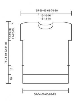 Безрукавка платочным узором из секционной пряжи - Выкройка 1