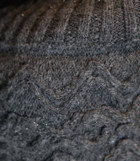 Пончо с волнистым узором - Фото 1