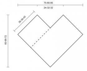 Пончо из квадратных мотивов - Выкройка 1