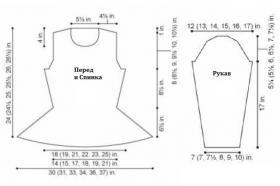 Пуловер с баской и жгутами - Выкройка 1