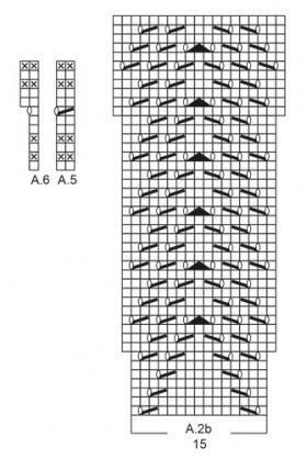 Шаль Календула - Схема 3