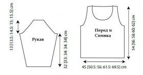 Пуловер Сатли - Выкройка 1