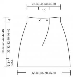 Юбка Пина Колада - Выкройка 1