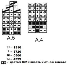 Варежки розовый лабиринт - Схема 1