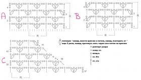 Летний ажурный жилет на пуговицах - Схема 1