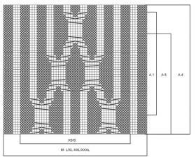 Накидка со жгутами и укороченными рядами - Схема 1