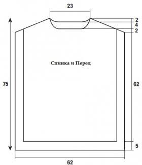 Туника накидка с высоким воротником - Выкройка 1
