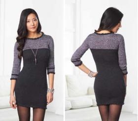 Маленькое черное платье спицами