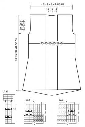 Жилет спицами с ажурными дорожками на спине - Схема 2