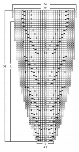 Джемпер волшебная паутина - Схема 1