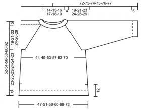 Пуловер Мадрид - Выкройка 1