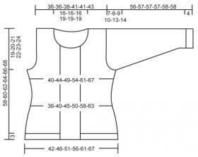 Двубортный жакет спицами на пуговицах - Выкройка 1