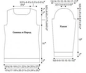 Пуловер Карра - Выкройка 1