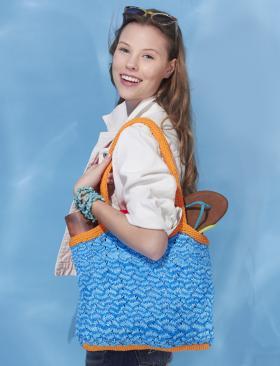 Пляжная сумка спицами