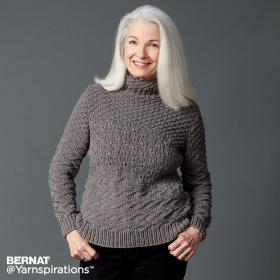 Пуловер с теневыми и ажурными узорами
