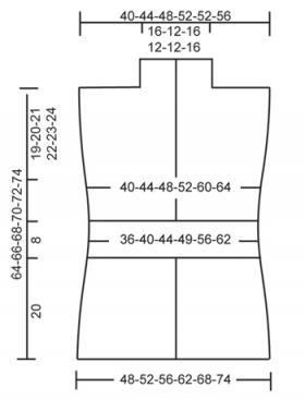 Жилет с веерным узором - Выкройка 1