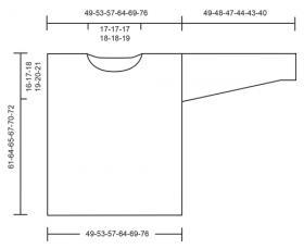 Пуловер с укороченными рядами и ажурным узором - Выкройка 1