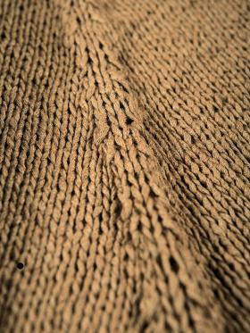Асимметричный коричневый кардиган - Фото 1