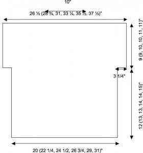 Летний топ спицами с вырезом лодочка - Схема 1