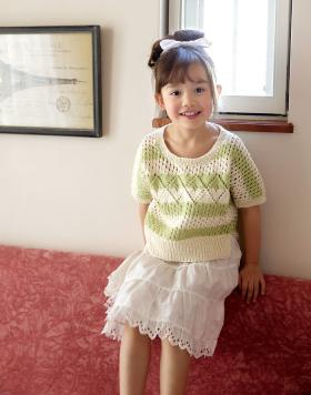 Детский ажурный свитер с цельнокроеным рукавом