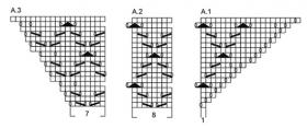 Шаль морской прилив - Схема 2