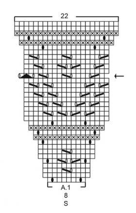 Кардиган Сентябрьское небо - Схема 2