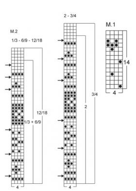 Комбинезон с жаккардовым узором - Схема 1
