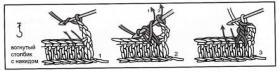 Плед крючком с узором шахматы - Схема 2