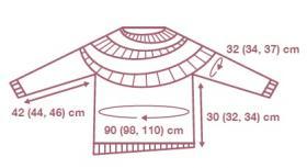 Пуловер Ветер - Выкройка 1