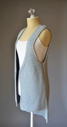 Удлиненный жилет платочным узором