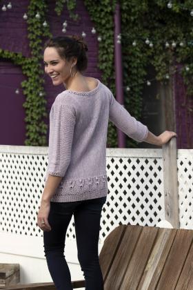 Пуловер с узором тюльпаны - Фото 2